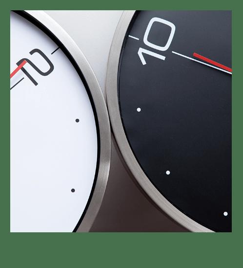 ULA นาฬิกาติดผนัง ขนาด 30.5x30.5x4.3 ซม. BE2875 สีดำ