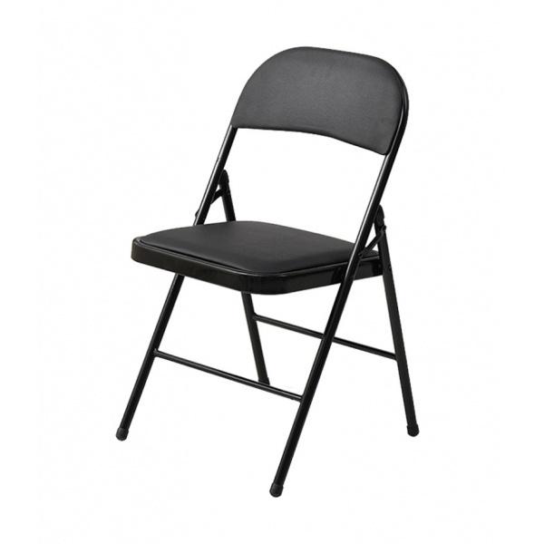 Delicato เก้าอี้พลาสติกพับได้  ขนาด 45×47.5×79.5ซม.   LX-001-B สีดำ
