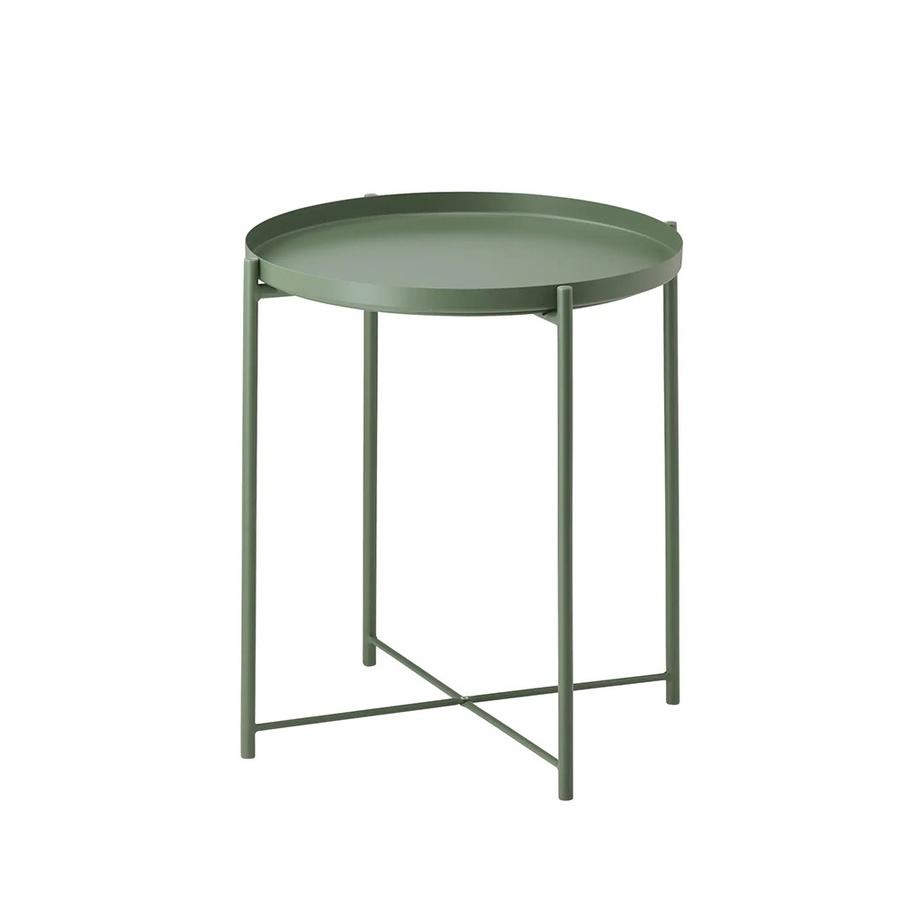 Delicato โต๊ะวางถาดพับได้ ขนาด 47.5x53ซม.  VV02 สีเขียว