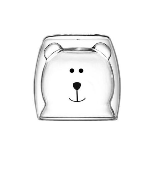 LAMAYON  แก้วน้ำรูปอุ้งหมี CLEAN ขนาด 250ML สีใส BR02