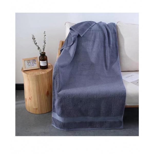 COZY ผ้าเช็ดตัว ขนาด 70×140×0.4ซม. LY17 สีน้ำเงิน