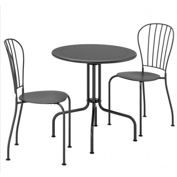SUMMER SET ชุดโต๊ะสนาม 2 ที่นั่ง  TANKARD ขนาด 60×60×71ซม.  TA001 สีดำ