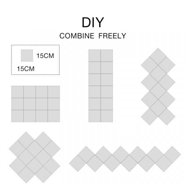 COZY สติกเกอร์กระจกติดผนัง  ขนาด 15×15×0.1 ซม.  JM225-GLD  สีทอง