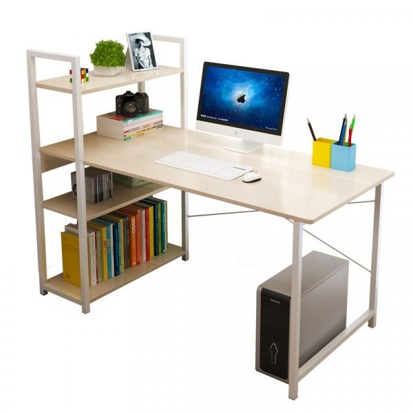 SMITH ชุดโต๊ะอเนกประสงค์ พร้อมชั้นวาง ขนาด 100x48x73ซม. สีไวท์เมเปิล GU0316