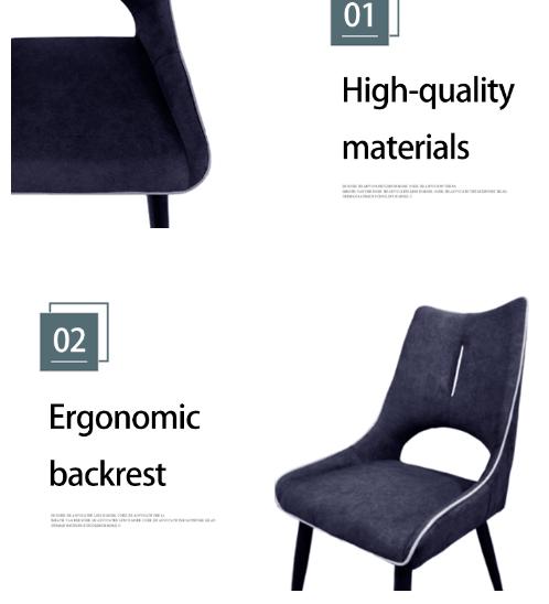 Pulito เก้าอี้ ขนาด 62×50×91cm. SQ007  สีน้ำเงิน