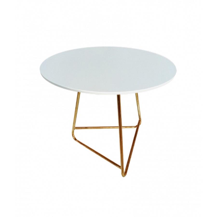 Pulito โต๊ะกาแฟ ขนาด 60×60×61cm. SCT-088 สีขาว