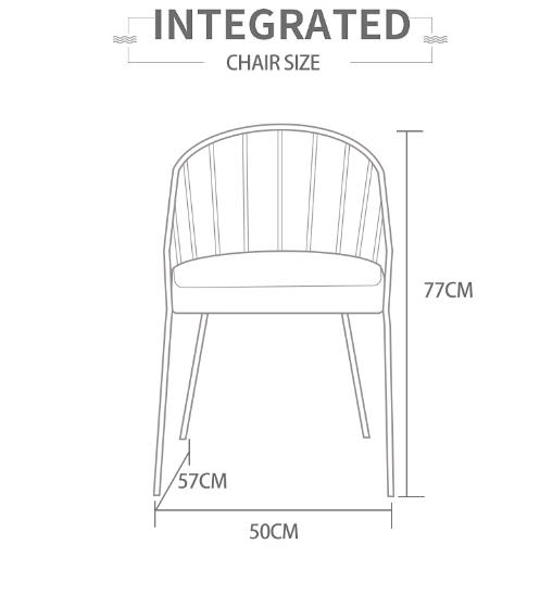 Pulito  เก้าอี้ 57×50×77cm SQ013 สีฟ้า