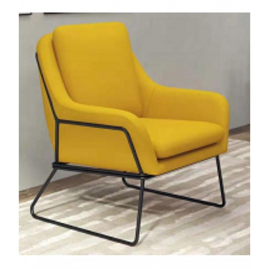 Pulito ชุดโซฟา 4 ที่นั่ง ขนาด 75×125×88cm. SQ019  สีเหลือง