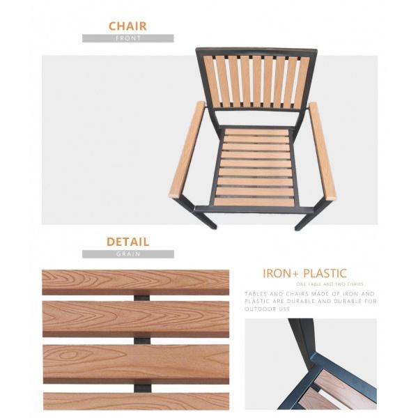 Delicato เก้าอี้สนาม  ขนาด58×54×86ซม. HB10 สีไม้