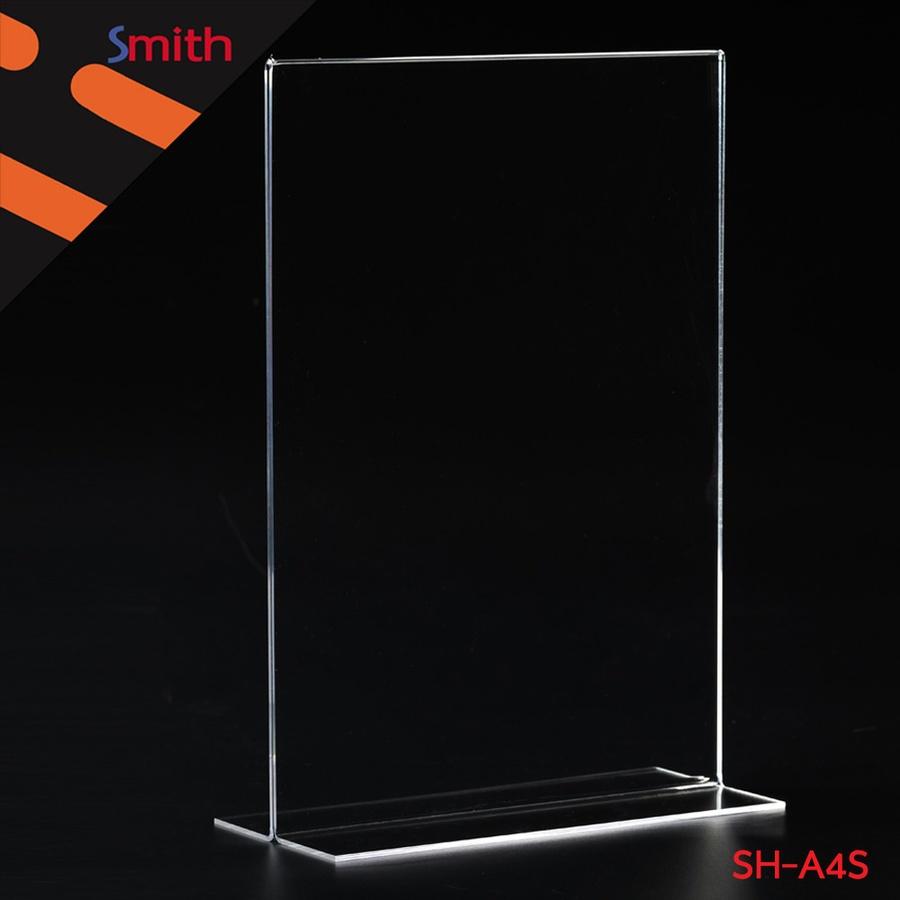SMITH ป้ายอะคริลิค A4 T-Shape แนวตั้ง ขนาด 21x30.1x9cm SH-A4S