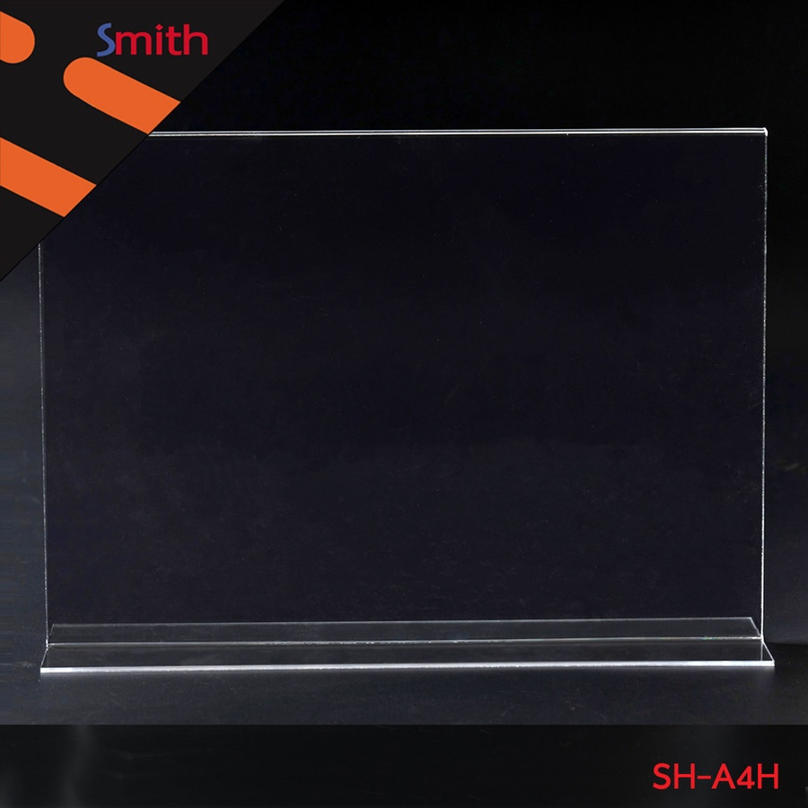 SMITH ป้ายอะคริลิค A4 T-Shape แนวนอน ขนาด 21x30.1x9cm SH-A4H