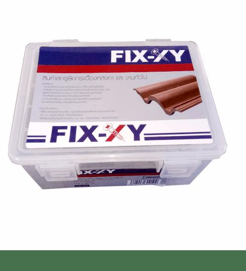 FIX-XY สกรูยึดกระเบื้อง ปลายสว่าน  8 ยาว 1.00 นิ้ว (25 มม.) (กล่อง)