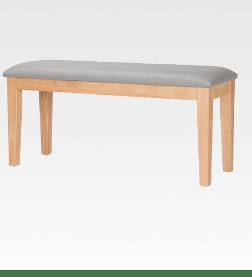 Pulito เก้าอี้ยาวอีสตัน ขนาด 100x38x48ซม. สีธรรมชาติ-เบาะเทา