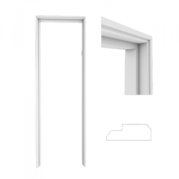 WELLINGTAN  วงกบประตูขนาด 80x200ซม.  WPC WPCDF-4-3