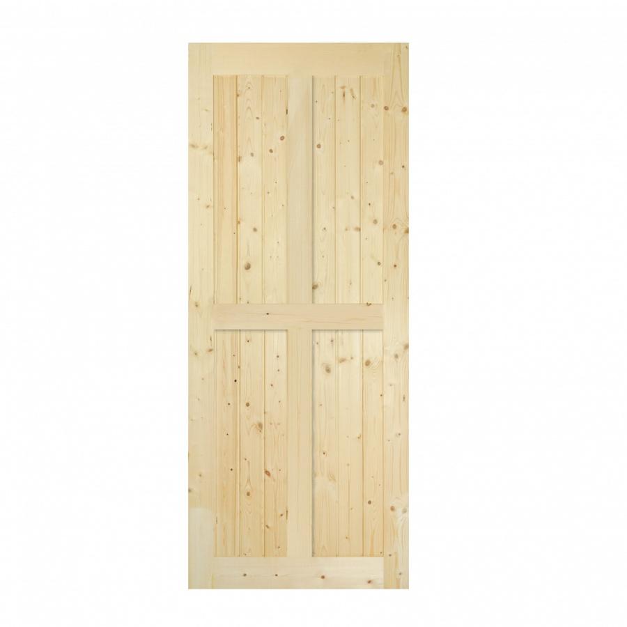 GREAT WOOD  ประตูไม้สน บานทึบทำร่อง  ขนาด 80x200ซม. PW-SK04-2G