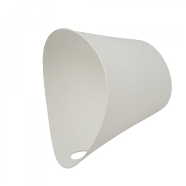 GOME ตะกร้าพลาสติกมีหูจับ ขนาด 11x17x17 ซม. DYS027  สีขาว
