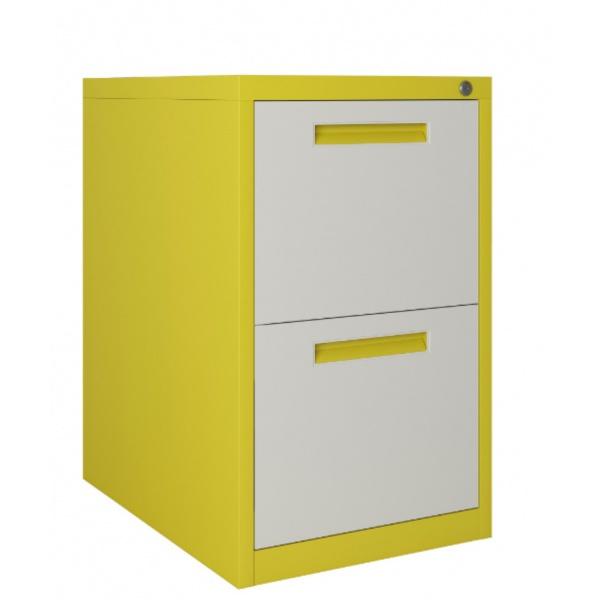 ULA ตู้ลิ้นชักเก็บเอกสาร 2 ชั้น 45.2x62x73.1ซม. BDL10 ขาว-เหลือง สีขาว