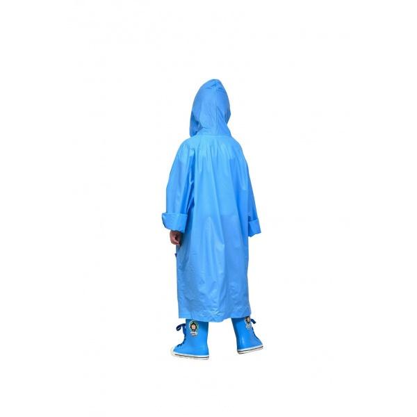 Tree O ชุดกันฝนพลาสติก EVA ไซส์ M สำหรับเด็ก 6-10ขวบ MJ018-BL สีฟ้า