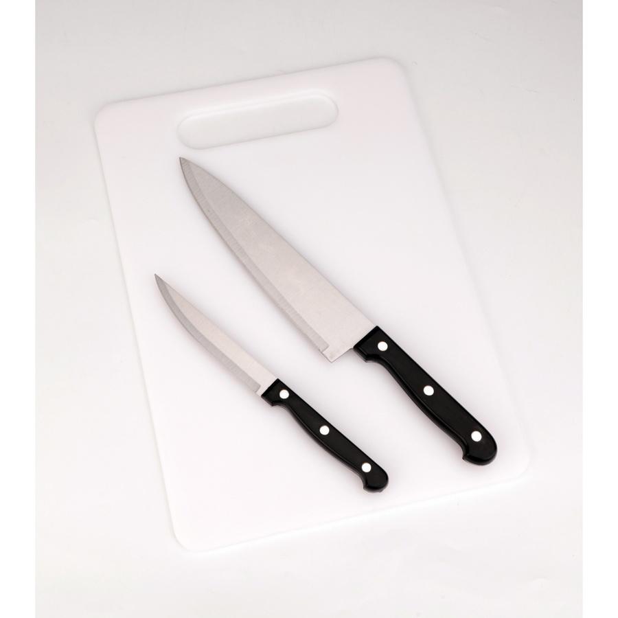 ADAMAS ชุดมีดพร้อมเขียงพลาสติก 3 ชิ้น/ชุด  KESH12