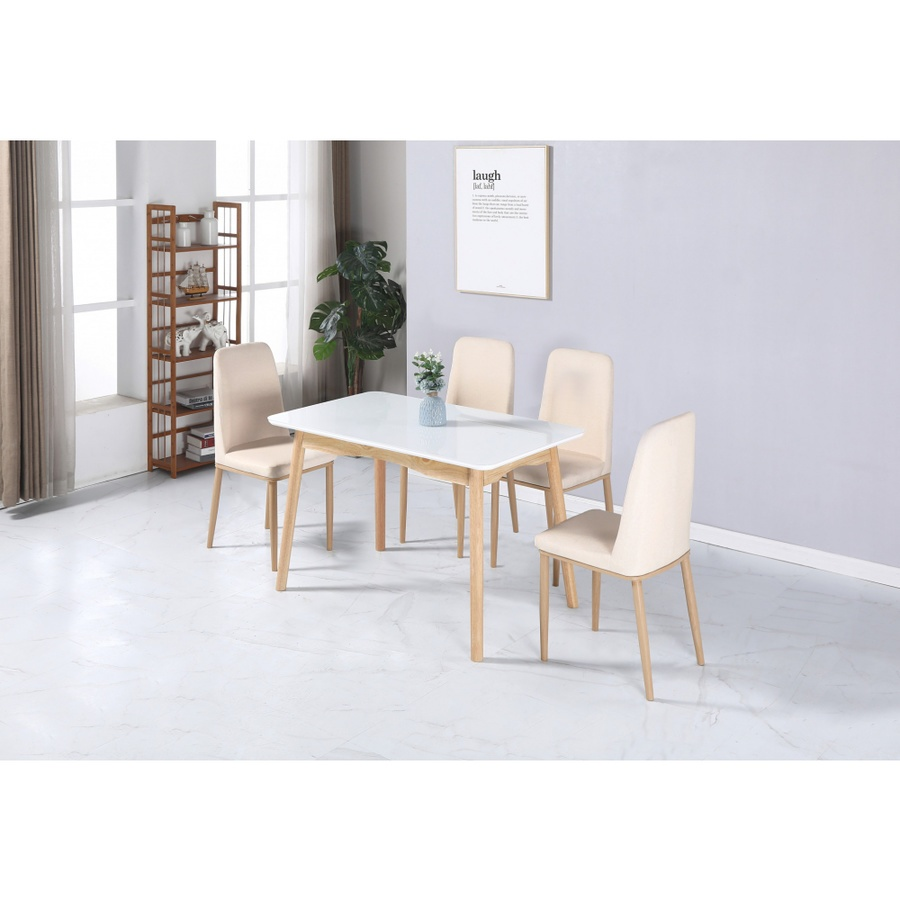 Delicato  เก้าอี้ KAYO หุ้ม PU ขนาด 48x45x89ซม. สีเบจ