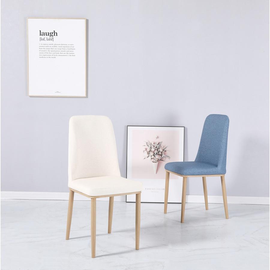 Pulito เก้าอี้ PU ลายผ้า ขนาด 48x45x89ซม. KAYO-BU สีฟ้าเข้ม