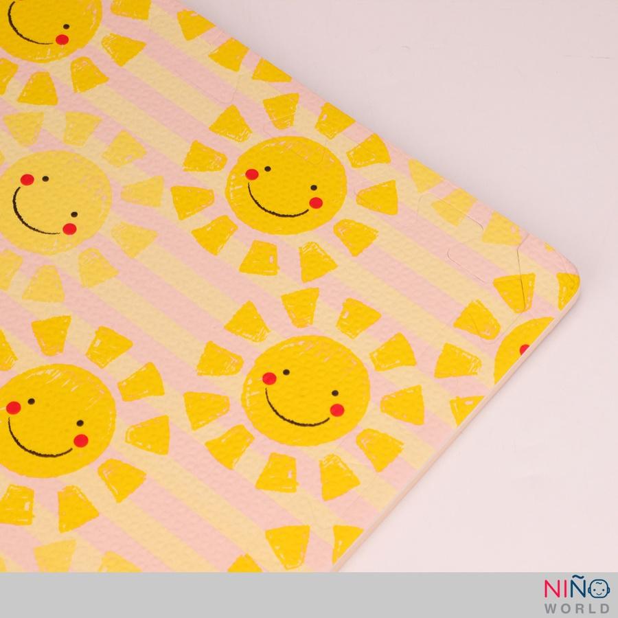 NINO WORLD ชุดแผ่นปูพื้นจิ๊กซอว์ (4 แผ่น) ขนาด 60x60x1 cm. รูปดวงอาทิตย์ 4TLX004