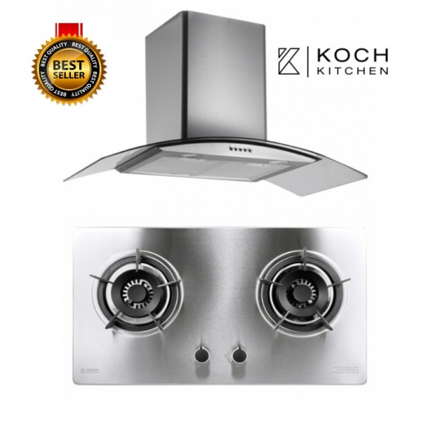 Koch Kitchen ชุดเซ็ทเครื่องดูดควัน+เตาแก๊สหน้าสเตนเลส Clasico   COQUINA1+ KH-04