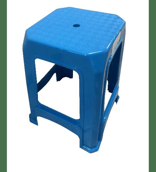 GOME เก้าอี้พลาสติก 4ขา ZH006-BU สีน้ำเงิน