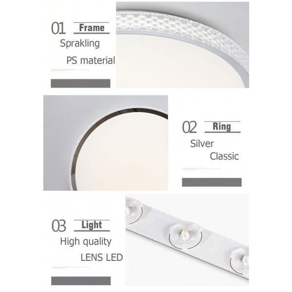 EILON โคมไฟเพดาน LED ปรับแสงได้  ขนาด  36W    (พร้อมรีโมท) Gela-510