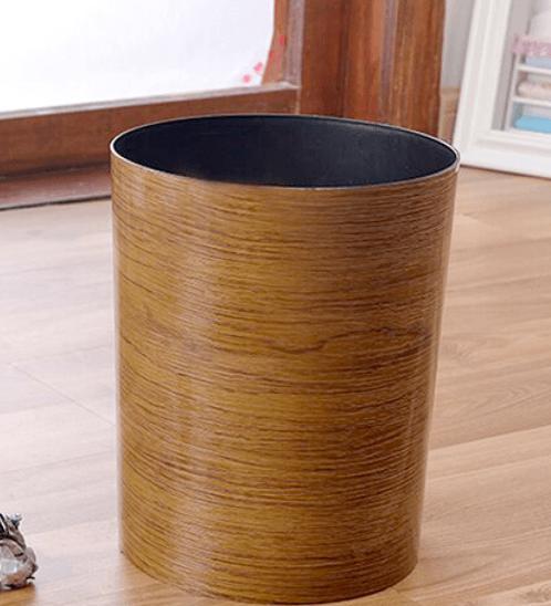 ICLEAN ถังขยะกลม 9.6ลิตร ขนาด 22.4x22.4x27.1ซม. TG59718 ลายไม้