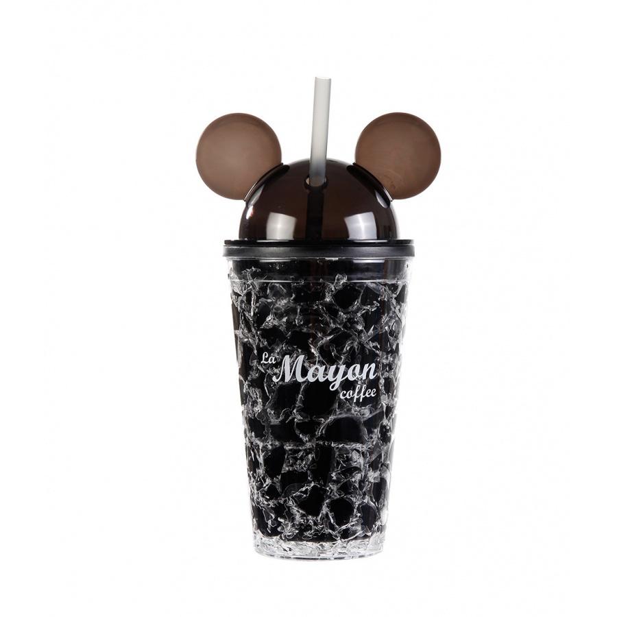 LAMAYON แก้วน้ำแข็งพลาสติก Mickey ขนาด  500ML CP11  สีดำ
