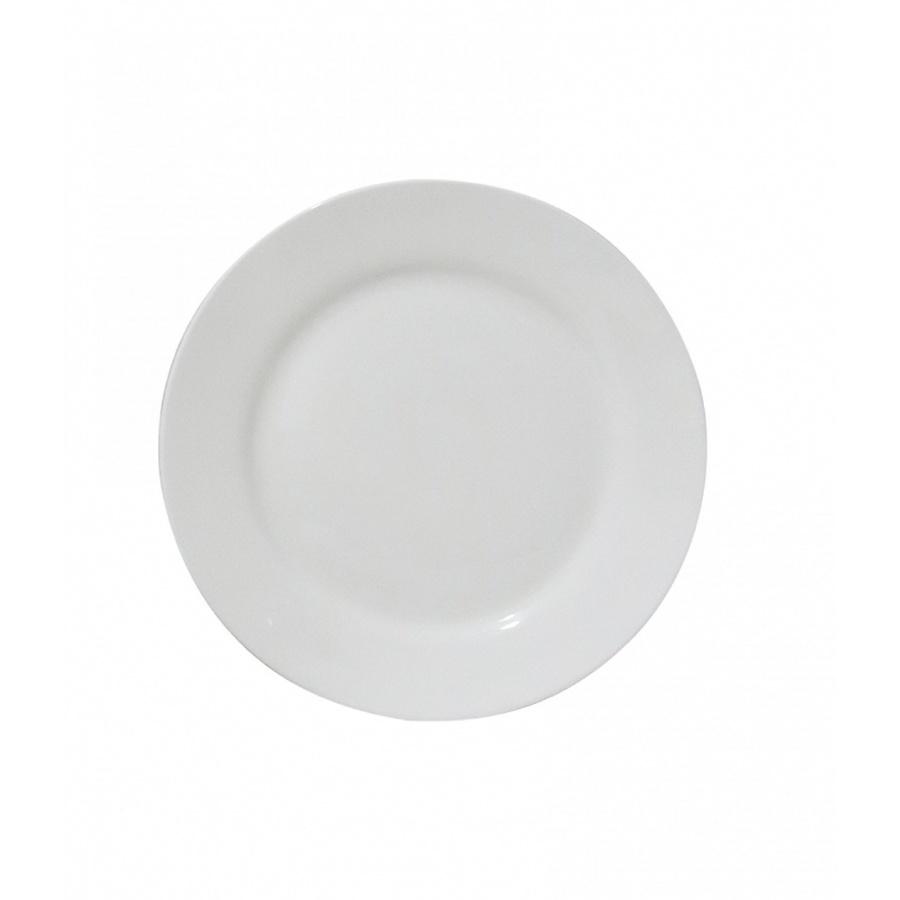 ADAMAS จานเซรามิคขาว 7 นิ้ว FA001  สีขาว
