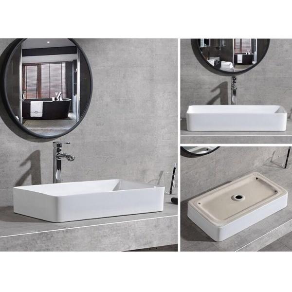 VERNO อ่างล้างหน้าวางบนเคาน์เตอร์ เวนิส 9026 สีขาว
