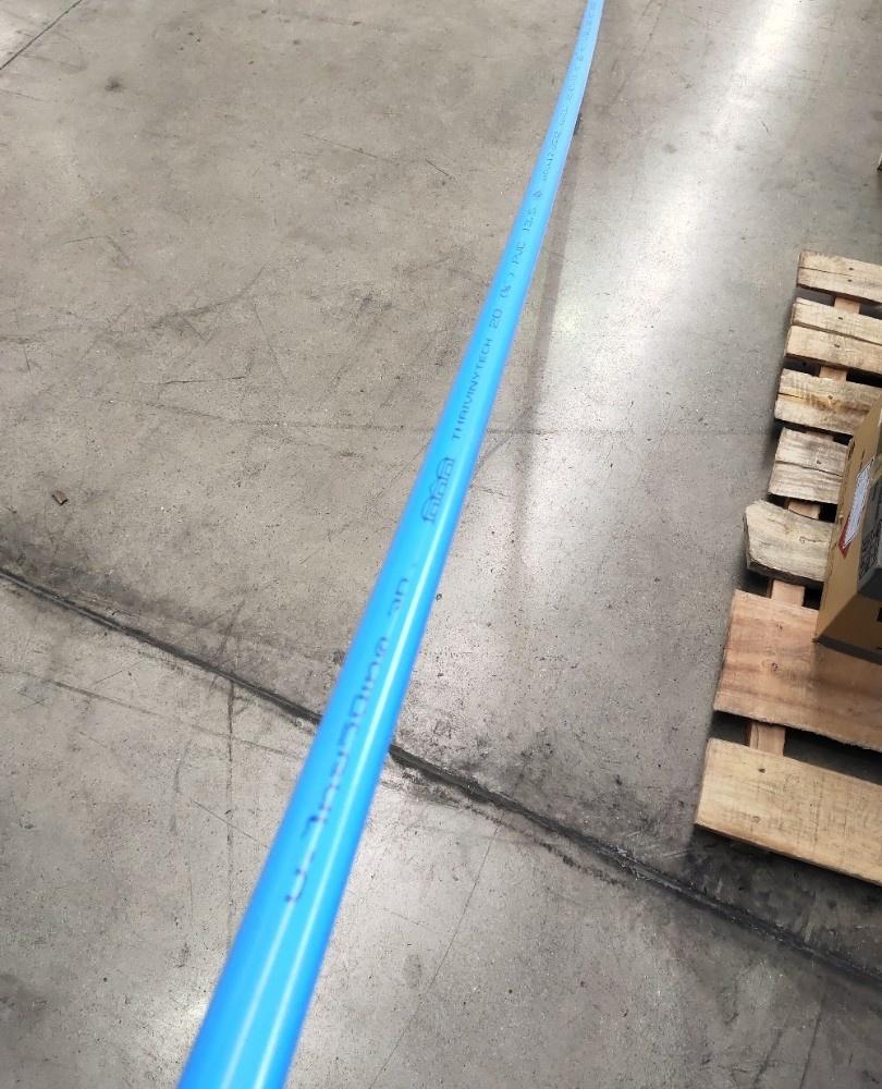 สามบ้าน ท่อพีวีซี PVC 3/4นิ้ว 13.5 ปลายเรียบ CL13.5 สีฟ้า