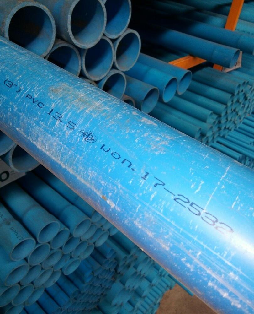 สามบ้าน ท่อพีวีซี PVC 3นิ้ว 13.5 ปลายเรียบ CL13.5 สีฟ้า