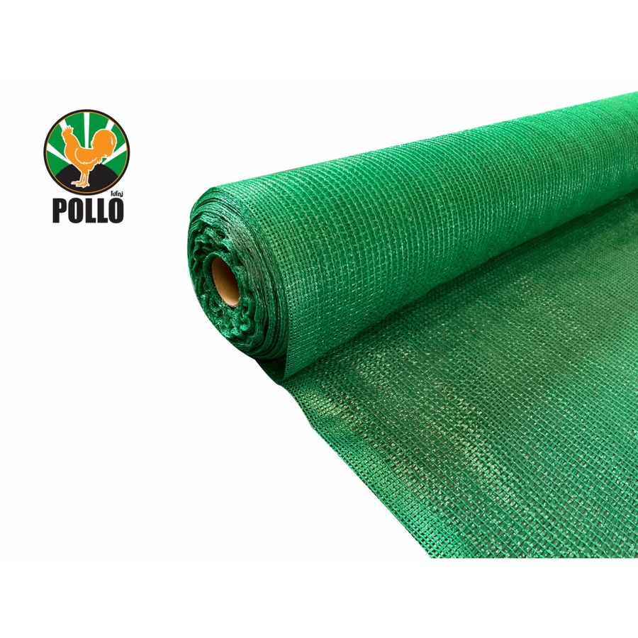 POLLO สแลนท์ HDPE 50% ขนาด 2 x 100เมตร SH-3210-55 สีเขียว
