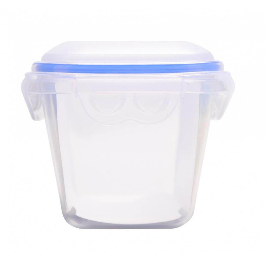 GOME กล่องถนอมอาหารพลาสติกทรงเหลี่ยม 960ML  EYYZ06 สีน้ำเงิน