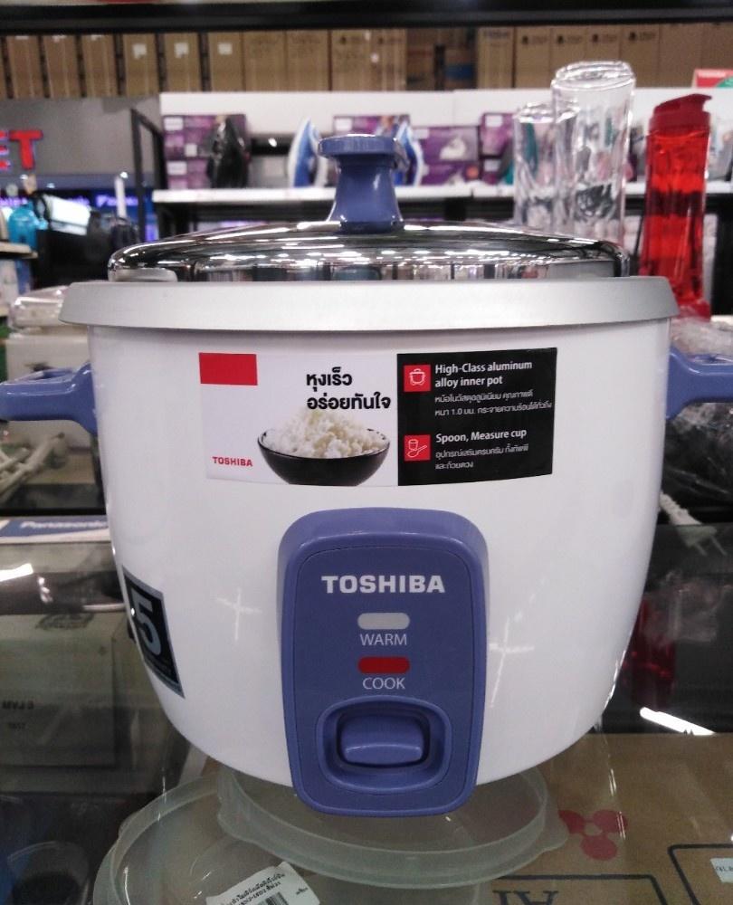 TOSHIBA หม้อหุงข้าวฝาเปิด 1.0 ลิตร  RC-T10CE สีขาว