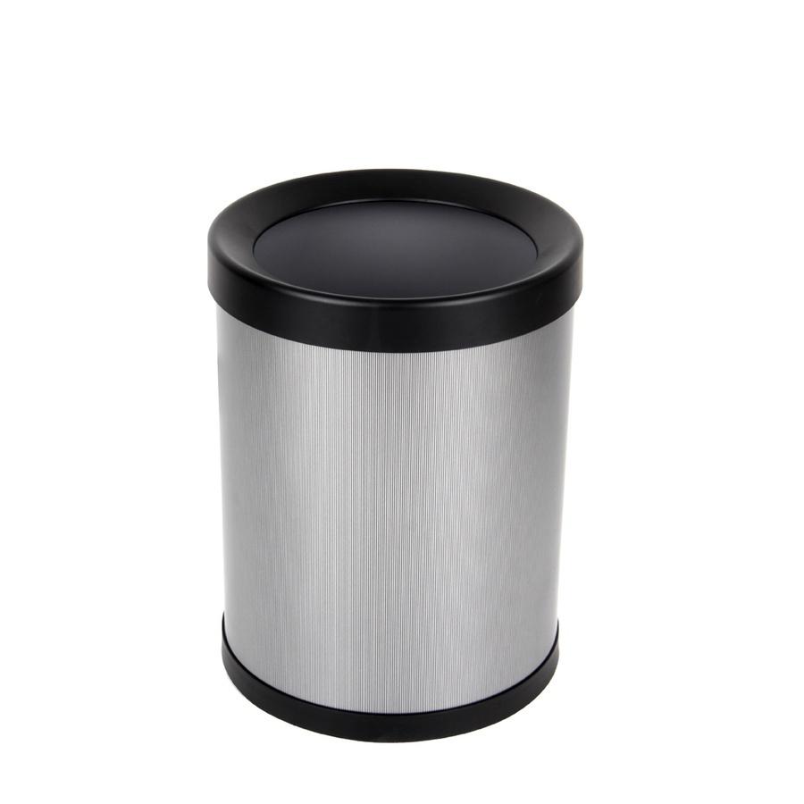 ICLEAN ถังขยะเหล็กเคลือบทรงกลม 8 ลิตร  TG52303 สีเทา
