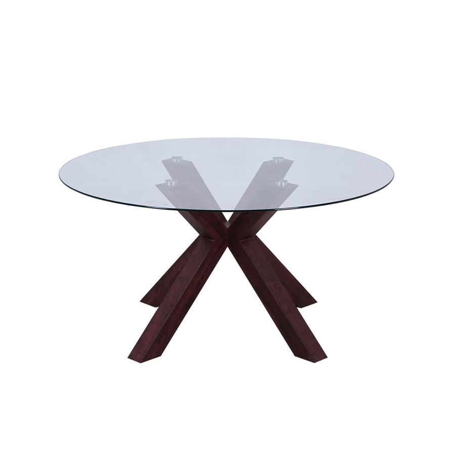 Delicato โต๊ะรับประทานอาหาร  ขนาด140x140x70ซม.   Harper  สีน้ำตาล