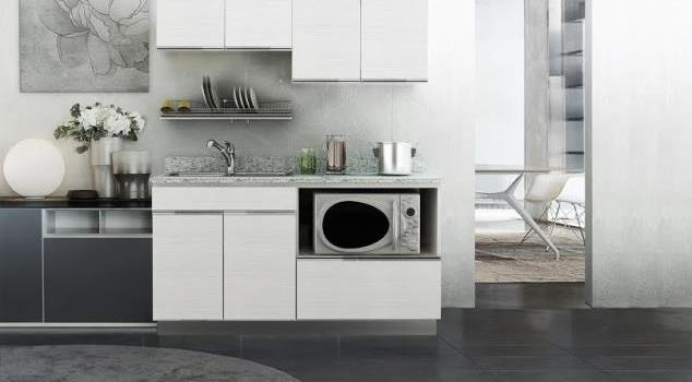 KITZCHO ชุดครัวสำเร็จรูป Zense ขนาด 1.64M.  Set.B ZER-C-FT-0B164-WH  สีขาว