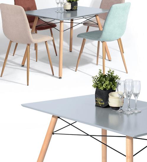Delicato ชุดโต๊ะอาหาร4ที่นั่ง LONDONSG&MONTAGE สีเทา
