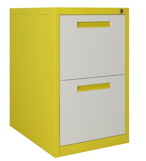 ULA ตู้ลิ้นชักเก็บเอกสาร 2 ชั้น 45.2x62x73.1ซม. BDL10 ขาว-เหลือง