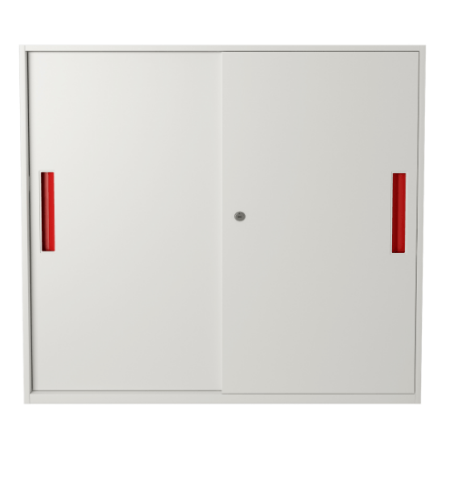 ULA ตู้เก็บเอกสารแบบทึบบานเลื่อน ขนาด 90x40x90ซม.  BDL16 ขาว-ส้ม