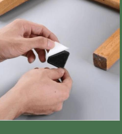 BIGROW ยางรองขาโต๊ะทรงสี่เหลี่ยม E1F20 สีดำ