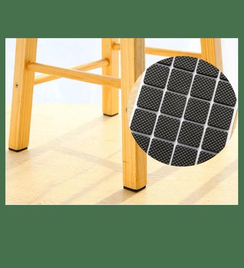 BIGROW ยางรองขาโต๊ะกันพื้นทรงสี่เหลี่ยม  E1F38 สีดำ