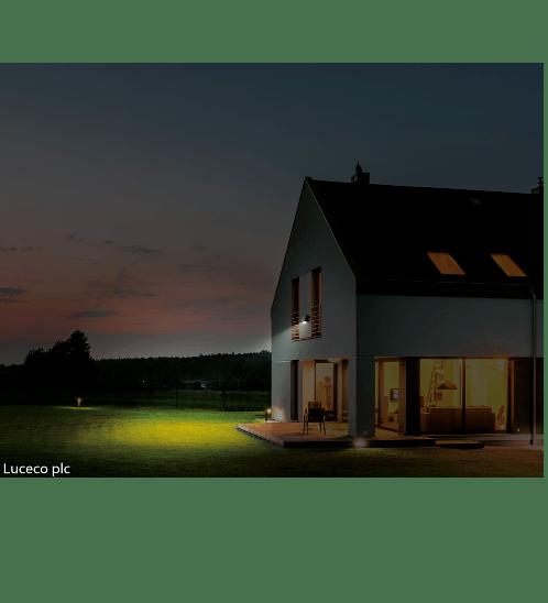 LUCECO ไฟ LED ฟลัดไลท์ โซล่าร์เซลล์ LEXSF6B40-GH สีดำ