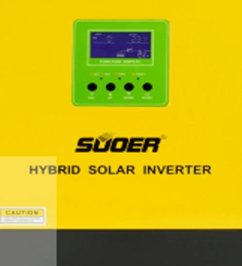 SUOER เครื่องแปลงไฟไฮบริด HYBRID INVERTER 24V PS-3KV-24V สีเขียว