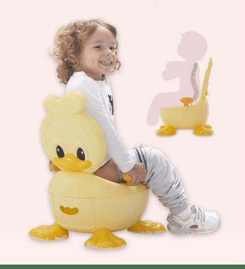 Primo Kids กระโถนนั่งเด็ก รูปเป็ด ขนาด 36x39x25.8 ซม. YT-005  สีเหลือง