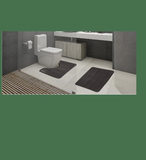 COZY พรมห้องน้ำ  CZ-005  สีเทา